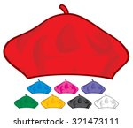 french beret collection ... | Shutterstock .eps vector #321473111