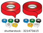 adhesive tape collection   Shutterstock .eps vector #321473615