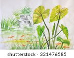 Watercolor Painting Of Green...
