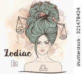 zodiac  illustration of libra... | Shutterstock .eps vector #321478424