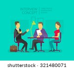 man to give  grant an interview.... | Shutterstock .eps vector #321480071