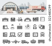 logistics icons | Shutterstock .eps vector #321480299