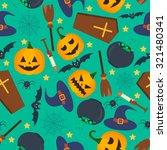halloween vector seamless...   Shutterstock .eps vector #321480341