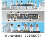 medical scientists  laboratory... | Shutterstock .eps vector #321480734
