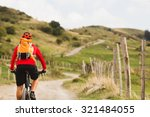 mountain biker riding on bike... | Shutterstock . vector #321484055