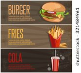 fast food vector banners with...