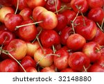 Cherries at a farmers market in France - stock photo