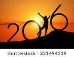silhouette person jumping over... | Shutterstock . vector #321494219