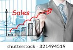 business man drawing graph of...   Shutterstock . vector #321494519