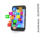 icon app fall in smart phone | Shutterstock . vector #321495599