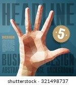 template for brochures  flyers  ... | Shutterstock .eps vector #321498737