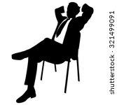 young businessman relaxing  | Shutterstock .eps vector #321499091