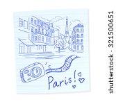 sketch hand drawn travel paris. ... | Shutterstock .eps vector #321500651