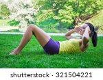 beautiful slim woman doing...   Shutterstock . vector #321504221