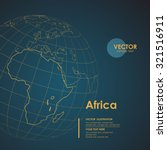 illustration earth map of... | Shutterstock .eps vector #321516911