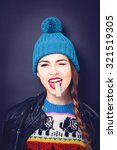 Cool Teenage Girl In Colorful...