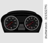 car instrument panel vector... | Shutterstock .eps vector #321522791