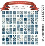 collection of 100 seamless... | Shutterstock .eps vector #321527279