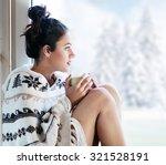 young beautiful brunette woman... | Shutterstock . vector #321528191