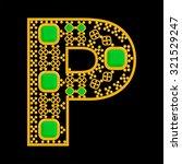 golden letter p | Shutterstock .eps vector #321529247