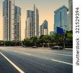 the street scene of the... | Shutterstock . vector #321529394