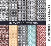 set of ten winter patterns | Shutterstock .eps vector #321531761