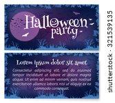 vector halloween party flyer... | Shutterstock .eps vector #321539135