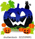 jack o lantern with design | Shutterstock .eps vector #321539891