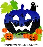 jack o lantern with design | Shutterstock .eps vector #321539891