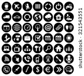 set of forty nine web icons | Shutterstock .eps vector #321543551