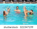 young people having fun in the... | Shutterstock . vector #321547199