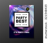 party flyer template. vector...