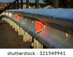 reflector of a guardrail on a... | Shutterstock . vector #321549941