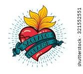 sacred heart print old schooll...   Shutterstock .eps vector #321552551