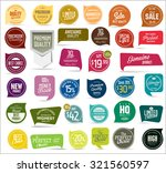 premium  quality modern labels... | Shutterstock .eps vector #321560597