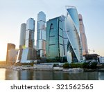 skyscrapers of moscow city at... | Shutterstock . vector #321562565