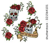 hand drawn day of dead mexican... | Shutterstock .eps vector #321564101