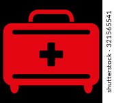 first aid toolkit vector icon.... | Shutterstock .eps vector #321565541