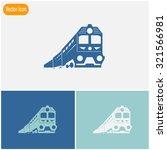 train vector icon. | Shutterstock .eps vector #321566981