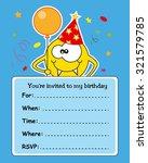 monster birthday card   Shutterstock .eps vector #321579785
