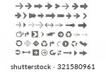 arrows of various shapes for... | Shutterstock . vector #321580961