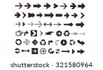arrows of various shapes for... | Shutterstock . vector #321580964