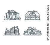 residential houses icons in... | Shutterstock .eps vector #321584231