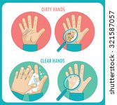 dirty hands  clear hands ... | Shutterstock .eps vector #321587057