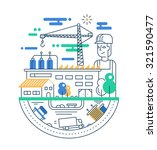 illustration of vector modern... | Shutterstock .eps vector #321590477