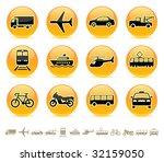 transportation icons buttons... | Shutterstock . vector #32159050