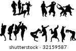 silhouette of boys and girls...   Shutterstock .eps vector #32159587