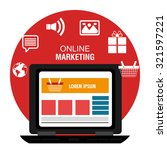 digital marketing business with ... | Shutterstock .eps vector #321597221