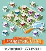 build your own isometric city.... | Shutterstock .eps vector #321597854