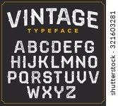 vintage vector retro font.... | Shutterstock .eps vector #321603281